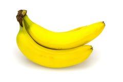 Mazzo di banane isolate su bianco Immagini Stock Libere da Diritti