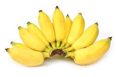 Mazzo di banane isolate su bianco Fotografia Stock