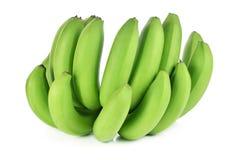 Mazzo di banane isolate su priorità bassa bianca Fotografia Stock