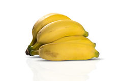 Mazzo di banane isolate su priorità bassa bianca fotografia stock libera da diritti