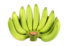 Mazzo di banane verdi. Fotografie Stock Libere da Diritti