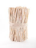 Mazzo di bastoni di legno bendati con una corda Fotografia Stock Libera da Diritti
