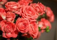 Mazzo di belle rose dentellare Fotografie Stock Libere da Diritti