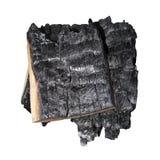 Mazzo di buio bruciato di legno fotografie stock libere da diritti