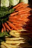 Mazzo di carote e di cavoli Fotografia Stock