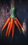Mazzo di carote fresche Fotografie Stock Libere da Diritti