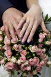 Mazzo di cerimonia nuziale dalle rose tenere Immagini Stock