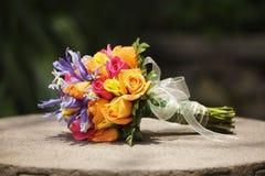 Mazzo di cerimonia nuziale della sposa Immagine Stock