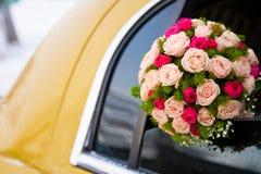 Mazzo di cerimonia nuziale delle limousine Fotografia Stock