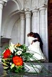 Mazzo di cerimonia nuziale di fiori Immagini Stock Libere da Diritti