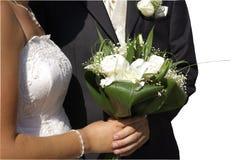 Mazzo di cerimonia nuziale su priorità bassa bianca Fotografia Stock Libera da Diritti