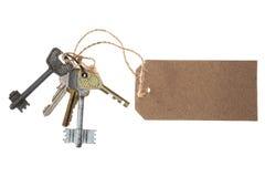 Mazzo di chiavi con il prezzo da pagare Fotografie Stock Libere da Diritti