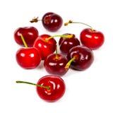 Mazzo di ciliege rosse Immagini Stock Libere da Diritti