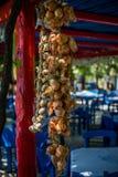 Mazzo di cipolle Fotografie Stock