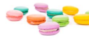 Mazzo di dolci del macaron Fotografie Stock Libere da Diritti