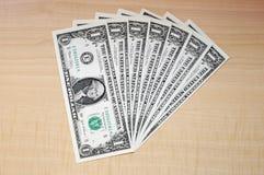 Mazzo di dollari Fotografia Stock Libera da Diritti