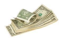 Mazzo di dollari US Fotografie Stock Libere da Diritti