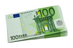 Mazzo di euro valuta Fotografie Stock Libere da Diritti