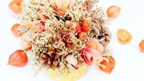 Mazzo di fiori secchi video d archivio