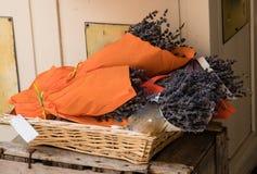 Mazzo di lavanda in un negozio in Provenza Fotografia Stock Libera da Diritti