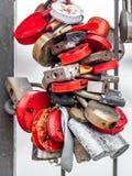 Mazzo di lucchetti Fotografia Stock