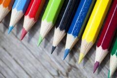 Mazzo di matite di colore Fotografie Stock