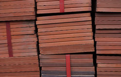 Mazzo di mattonelle al forno dell'argilla Fotografia Stock