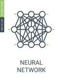 Mazzo di nodi dell'icona della rete neurale dell'icona neurale di web royalty illustrazione gratis