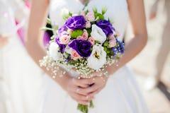 Mazzo di nozze con le rose e il alstromeria Fotografia Stock Libera da Diritti