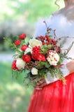 Mazzo di nozze della sposa Immagine Stock