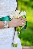 Mazzo di nozze della sposa Fotografie Stock