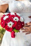 Mazzo di nozze delle rose rosse Immagini Stock Libere da Diritti