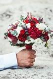 Mazzo di nozze su una pietra Fotografie Stock Libere da Diritti