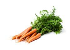 Mazzo di nuove carote isolate su bianco Fotografia Stock