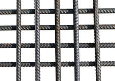 Mazzo di parecchie barre di rinforzo isolate Fotografia Stock Libera da Diritti