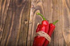Mazzo di peperoni pungenti rossi Immagine Stock