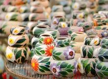 Mazzo di POT di ceramica messicani Fotografie Stock Libere da Diritti