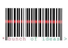 Mazzo di scansione di macro del codice a barre di idee isolata Fotografie Stock Libere da Diritti