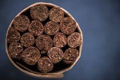 Mazzo di sigari, pacchetto immagini stock libere da diritti