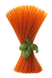 Mazzo di spaghetti rossi Fotografie Stock