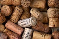 Mazzo di sugheri del vino Immagini Stock