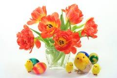 Mazzo di tulipani Immagini Stock Libere da Diritti