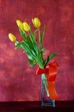 Mazzo di tulipani gialli Fotografie Stock