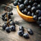 Mazzo di uva nera Fotografia Stock Libera da Diritti