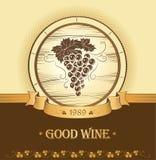 Mazzo di uva per le etichette di vino Fotografie Stock Libere da Diritti