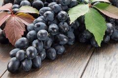 Mazzo di uva su una tavola Fotografia Stock