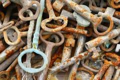 Mazzo di vecchi tasti arrugginiti Fotografia Stock Libera da Diritti