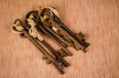 Mazzo di vecchie chiavi Fotografia Stock
