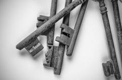 Mazzo di vecchie chiavi Fotografia Stock Libera da Diritti