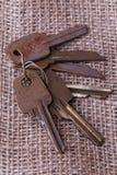 Mazzo di vecchie chiavi Immagine Stock
